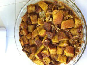 Pumpkin Challah Bread Pudding