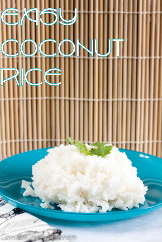 A unique and easy side dish, savory coconut rice pairs well with Thai food and tropical dishes. Learn how to make it on GoodieGodmother.com