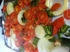 Roasted Red Salsa Vegetables - Goodie Godmother