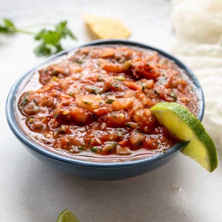 Make delicious Mexican restaurant quality salsa at home in minutes with this Easy Roasted Vegetable Salsa recipe! * GoodieGodmother.com