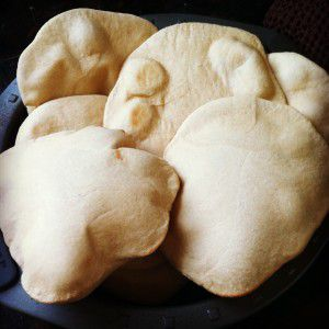 Puffy Wheat Pita Bread