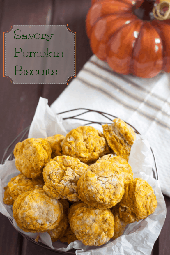 Savory pumpkin biscuits are an easy accompaniment to your Thanksgiving meal! Get the recipe on GoodieGodmother.com