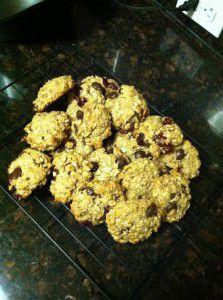 Chocolate Cranberry Breakfast Cookies