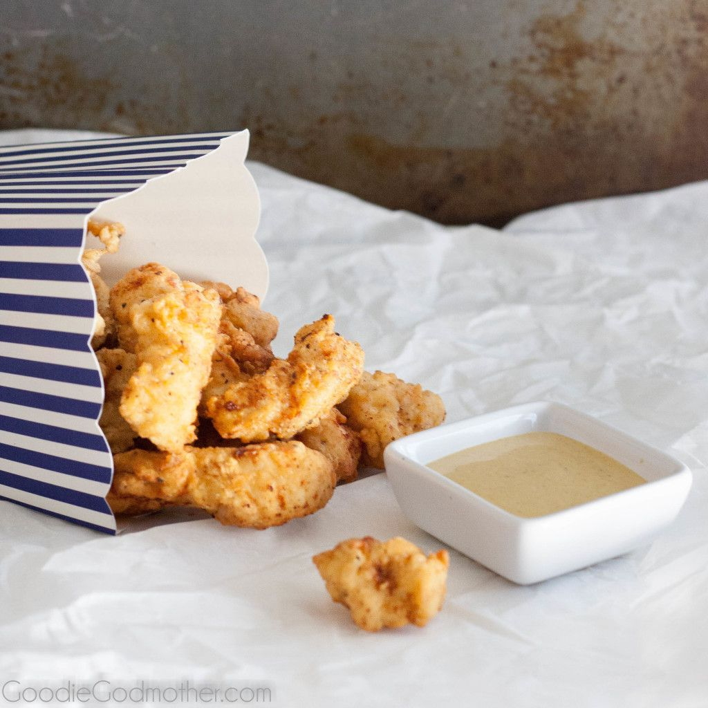 It's easy to make your own Chick-fil-A nuggets at home! Recipe on GoodieGodmother.com