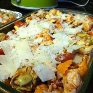 Chicken Cheese Tortellini Casserole (Freezer Friendly)