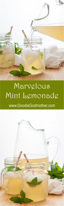 Marvelous Mint Lemonade Recipe * GoodieGodmother.com