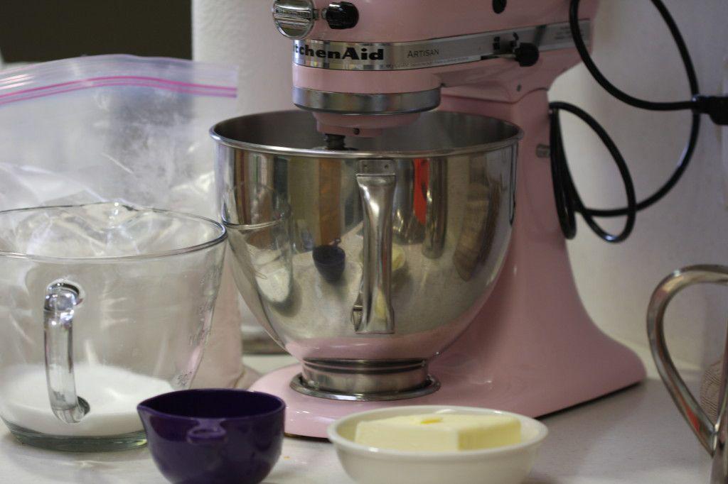 Pink Mixer Oatmeal Cookies