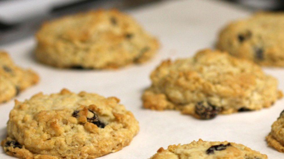Coconut Oatmeal Raisin Cookies