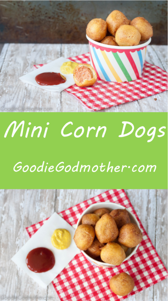 Enjoy fair food at home! Mini corn dog recipe from scratch