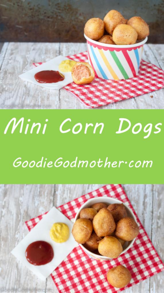 Enjoy fair food at home! Mini corn dog recipe from scratch