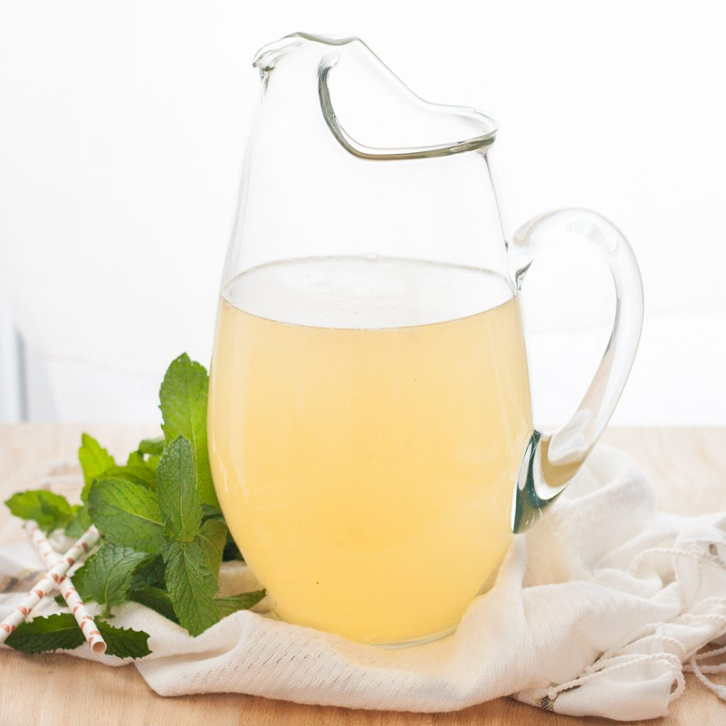Marvelous Mint Lemonade Recipe * GoodieGodmother.com