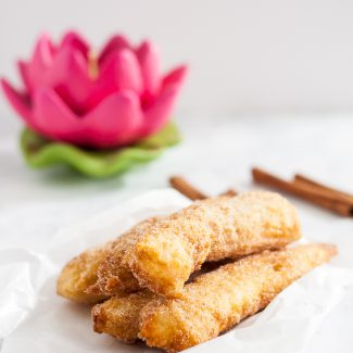 Mexican Style Churros are fried dough perfection coated in cinnamon sugar. Make them at home with this easy recipe on GoodieGodmother.com