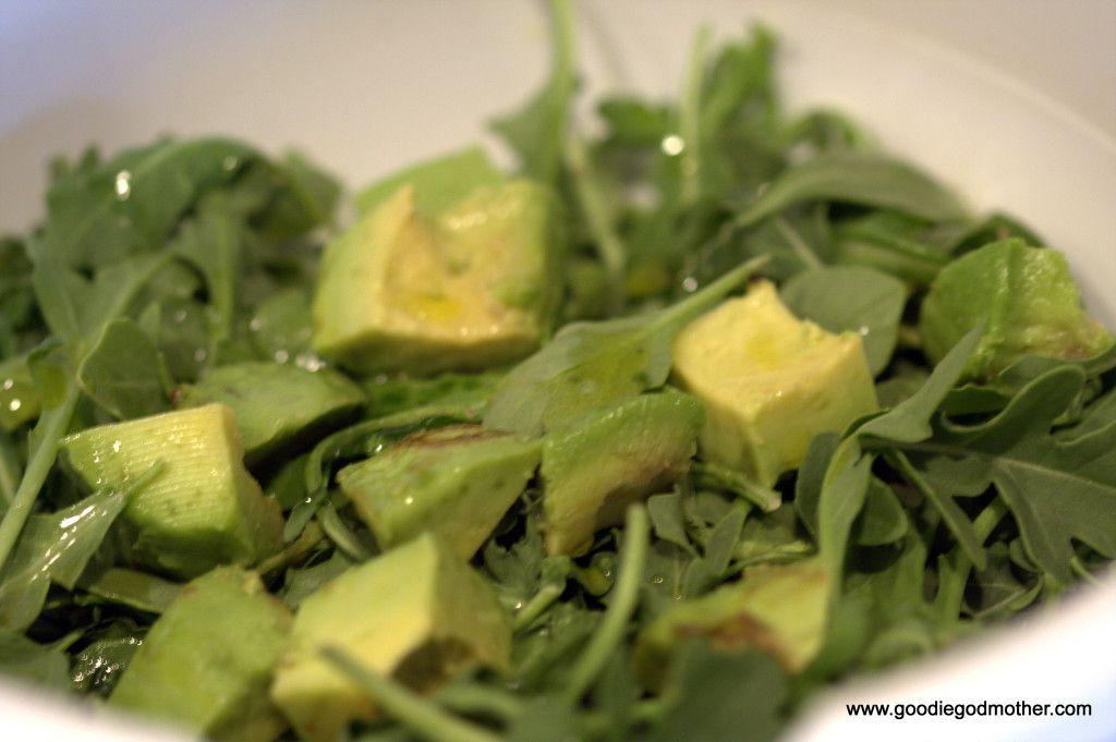 Arugula and avocado