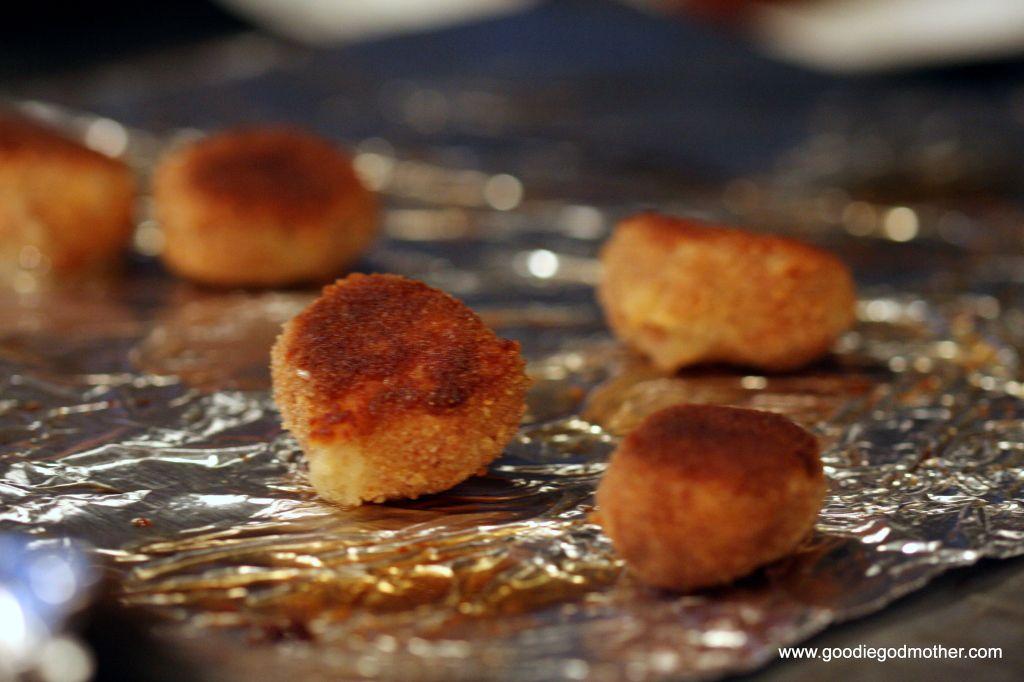Baked croquetas de jamon
