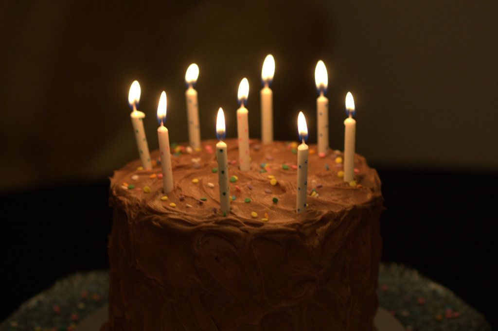 Chocolate Buttercream frosting birthday cake