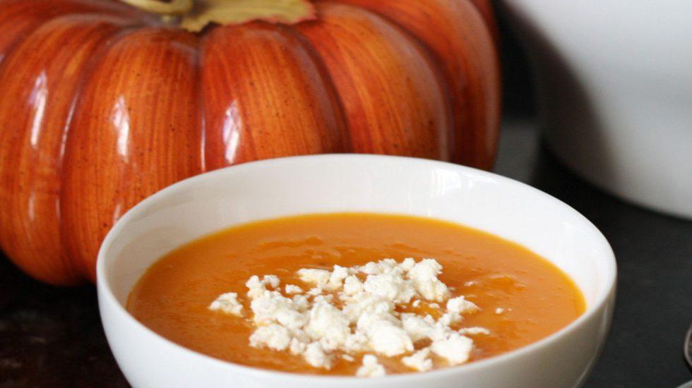 Roasted Butternut Squash Pumpkin Saffron Soup