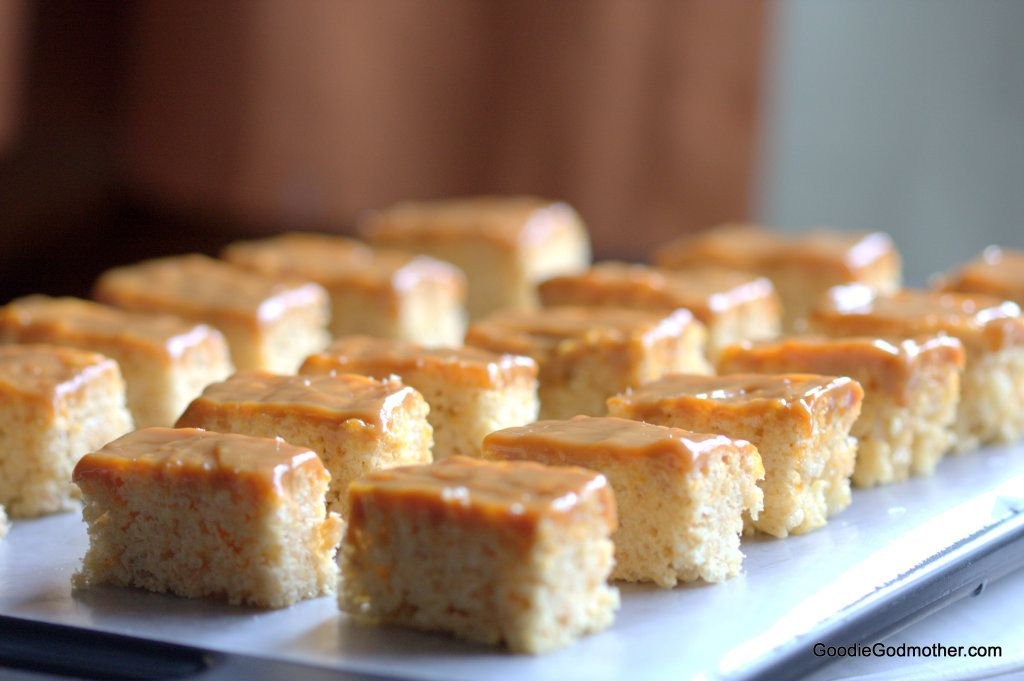 Brown butter dulce de leche rice krispie treats