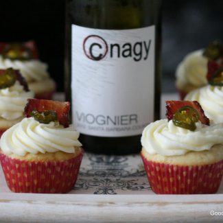Candied jalapeno bacon viogner cupcake recipe on Goodie Godmother