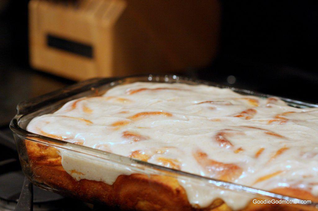 Frosted pumpkin cinnamon rolls