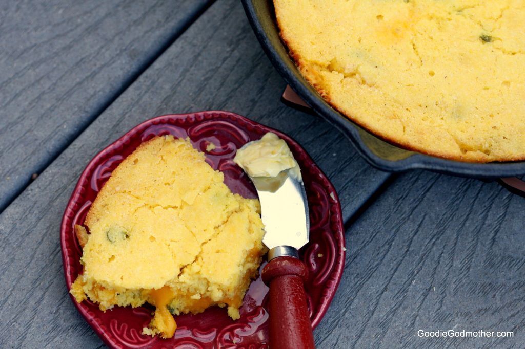 Candied Jalapeno Smoked Cheddar Cornbread Recipe