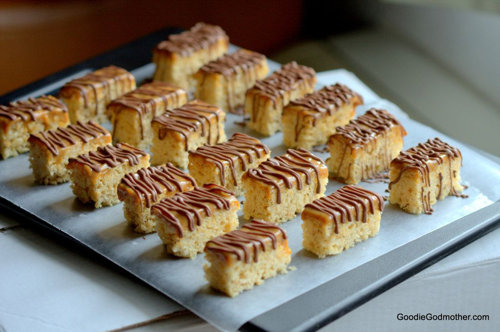 Milk chocolate drizzle on dulce de leche brown butter treats