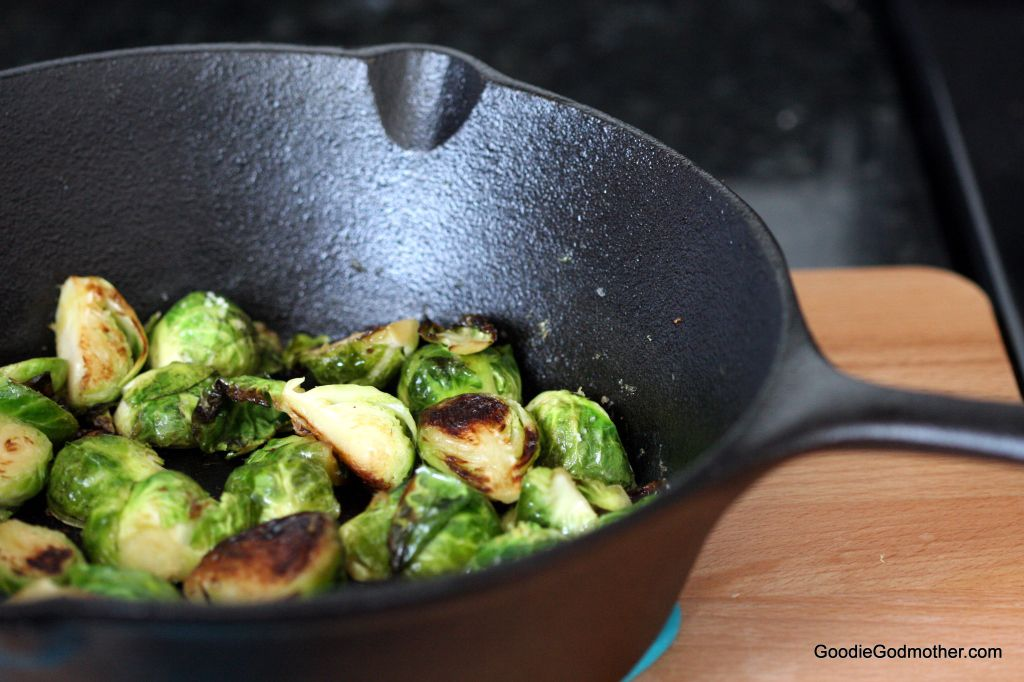 Pan Seared Lemon Brussel Sprouts