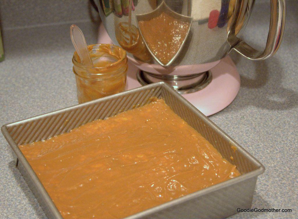 Rice Crispy treats with caramel