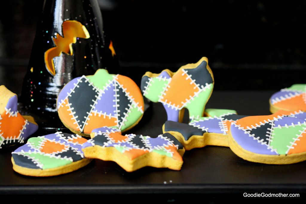 decorated pumpkin sugar cookies