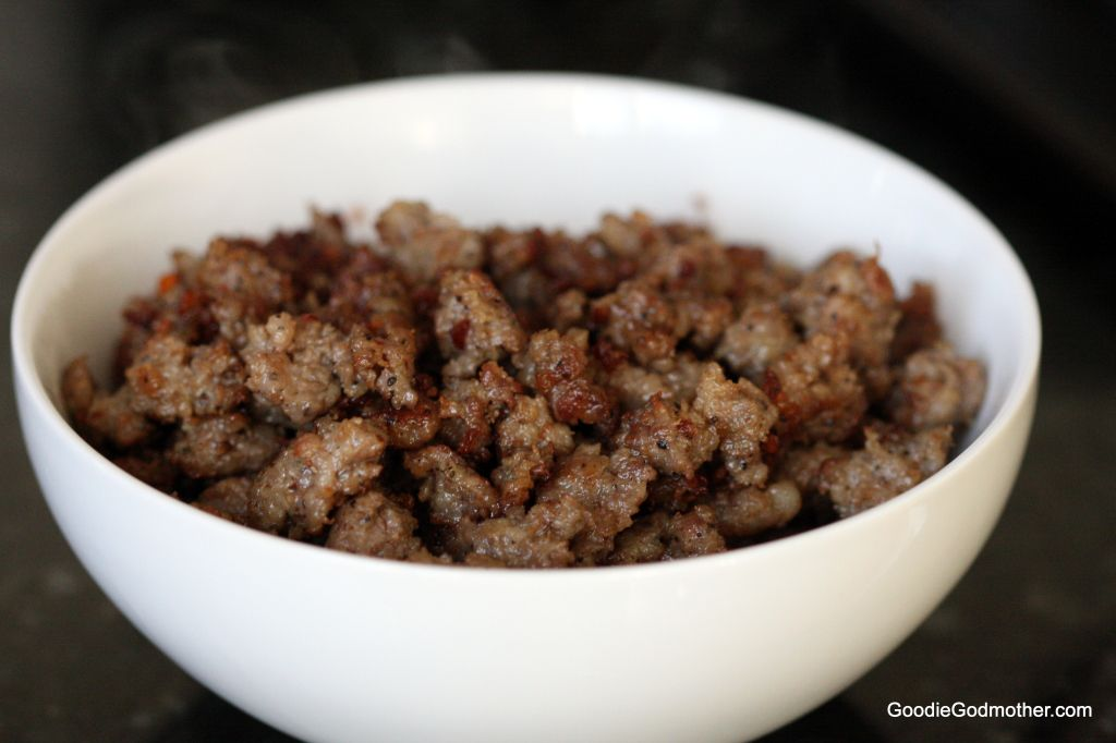 Browned sausage for biscuits and gravy
