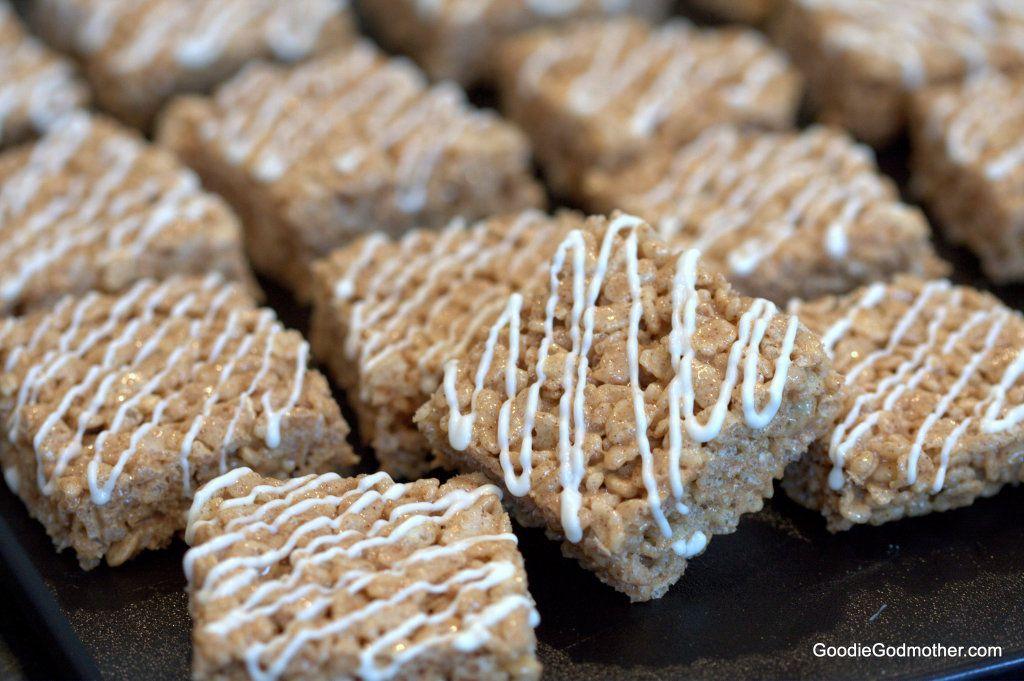 Cinnamon Roll Crispy Rice Treats