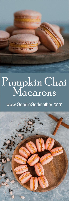 Perfect macarons for fall! Pumpkin chai macarons recipe on GoodieGodmother.com