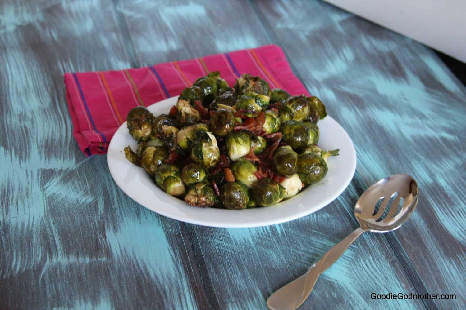 Bacon Balsamic Brussels Sprouts - Goodie Godmother - A Recipe and ...