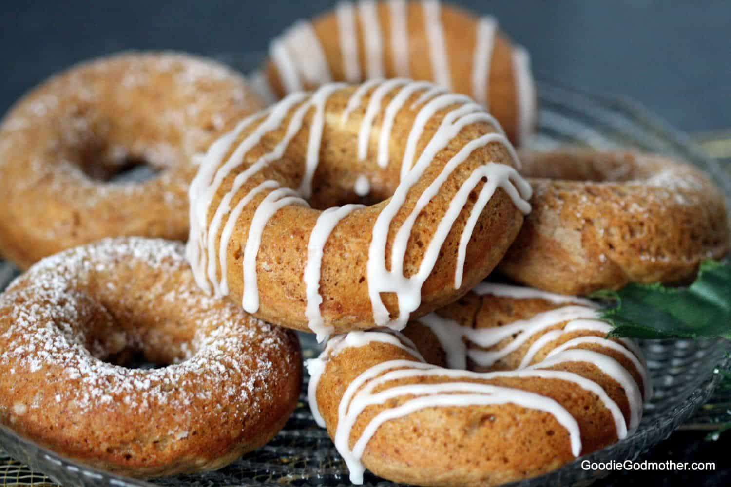 Gingerbread Baked Doughnuts - Goodie Godmother