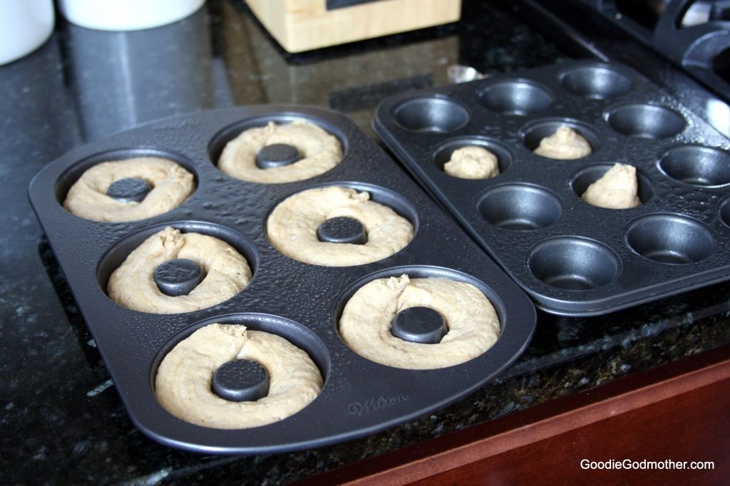 Gingerbread doughnuts ready for baking