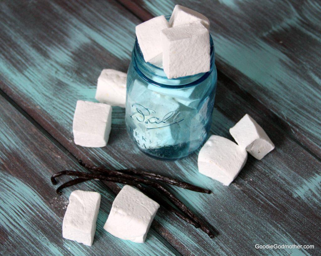 Homemade marshmallow recipe with vanilla beans
