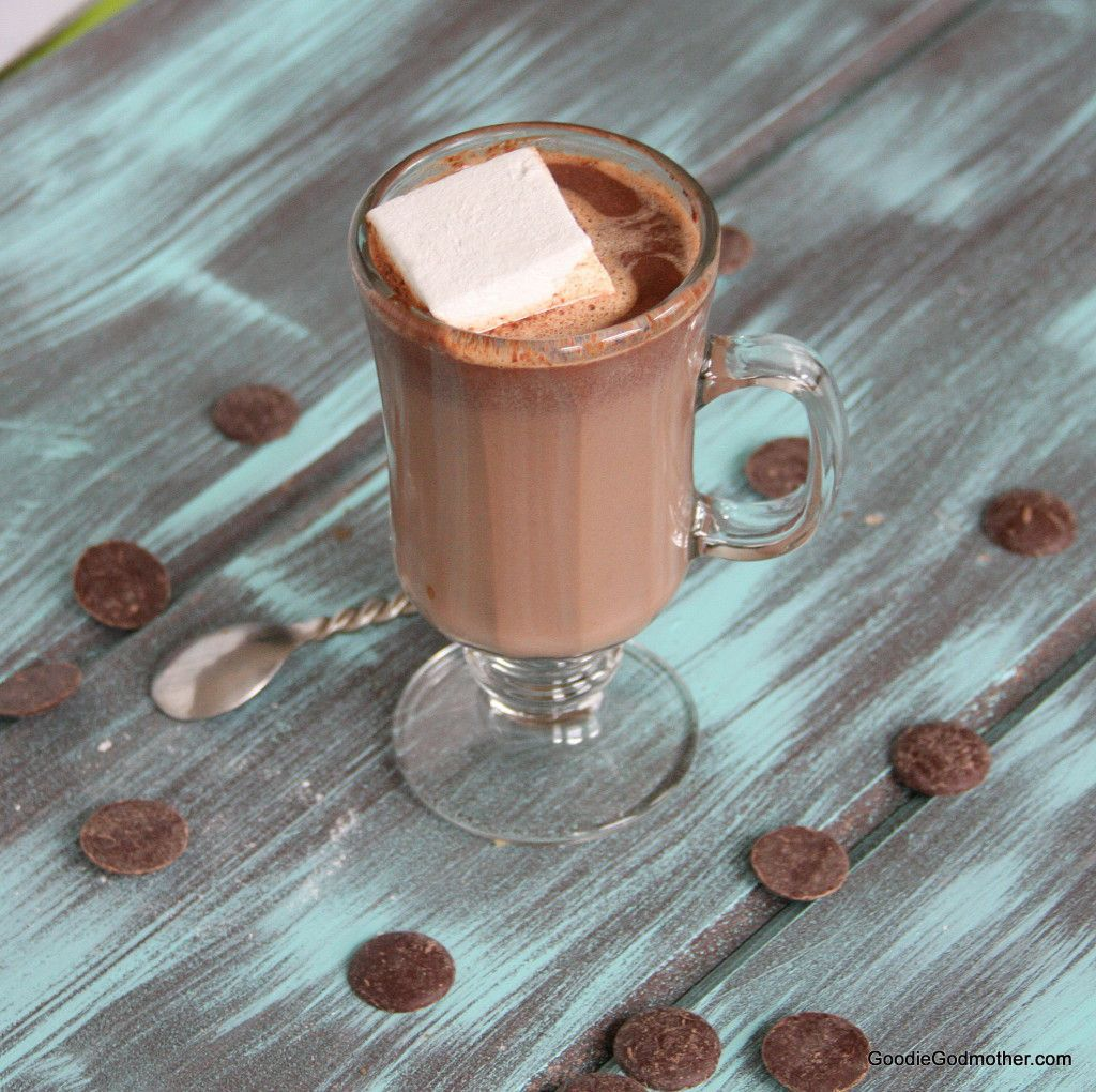 Hot Chocolate Recipe from Scratch on Goodie Godmother