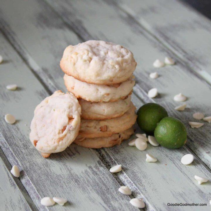 White Chocolate Macadamia Key Lime Cookies