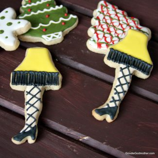{Video} Christmas Leg Lamp Cookie Decorating Tutorial and Eggnog Sugar Cookie Recipe