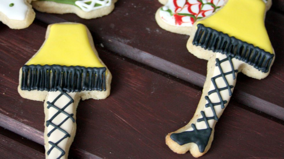 {Video} Christmas Leg Lamp Cookie Decorating Tutorial And Eggnog Sugar Cookie Recipe