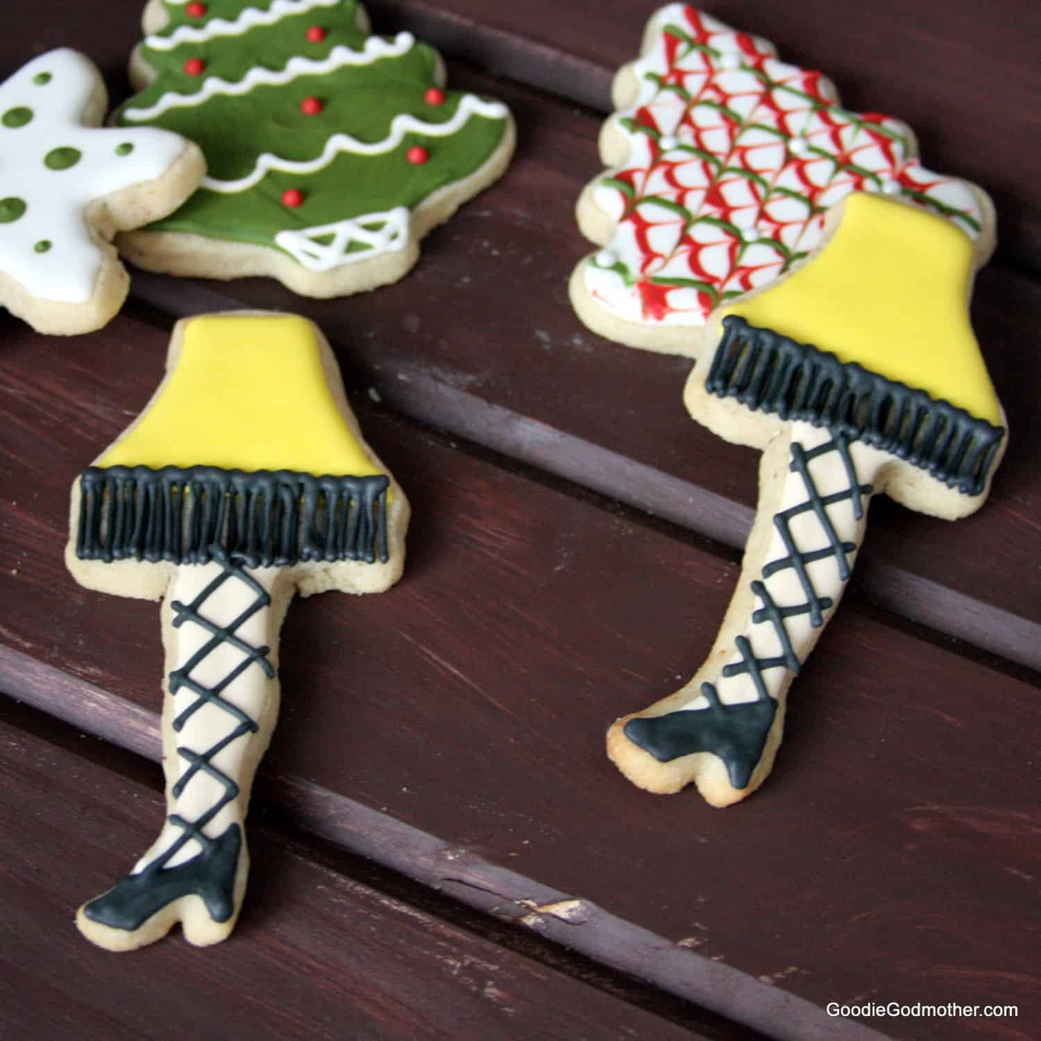 leg lamp cookie decorating tutorial by goodie godmother - Sugar Cookie Decorating