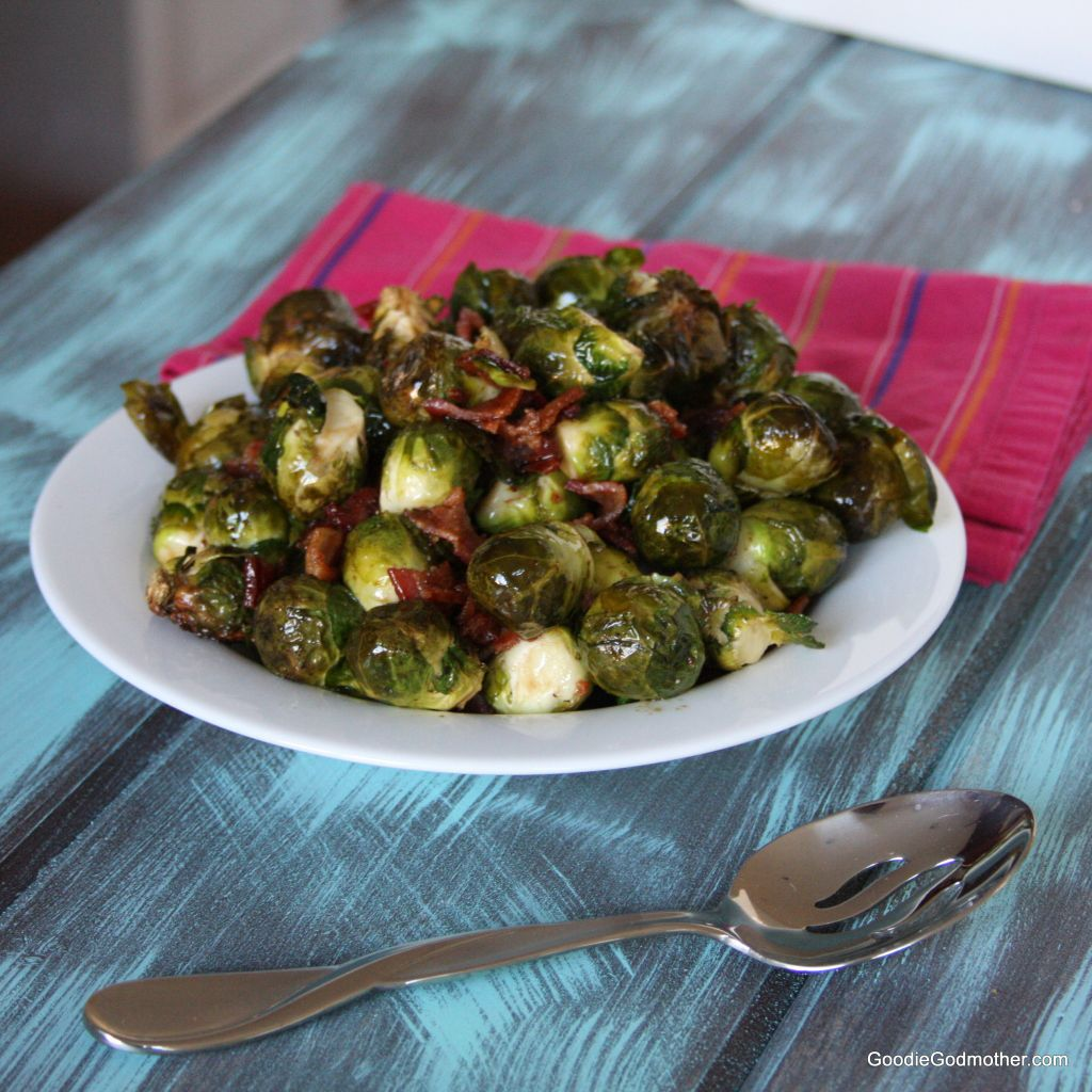 Paleo Clean Eating Bacon Balsamic Brussels Sprouts