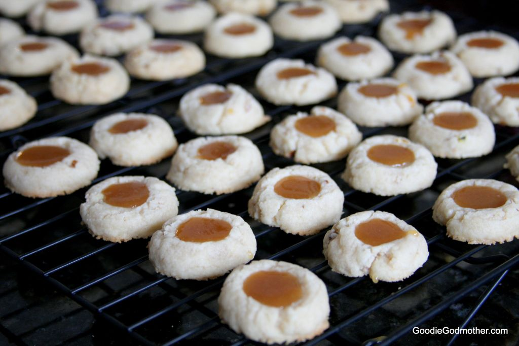 Turtle Thumbprint Cookies with homemade caramel