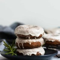 Baked Gingerbread Doughnuts with Maple Glaze