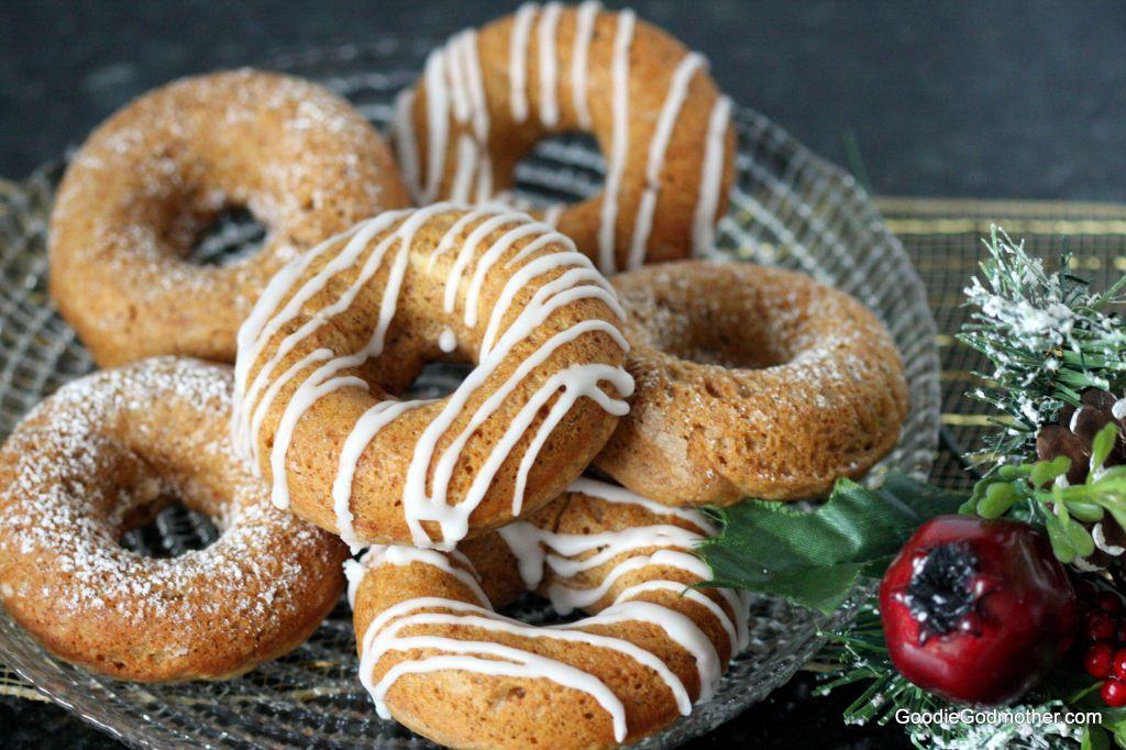 healthier baked gingerbread doughnuts recipe