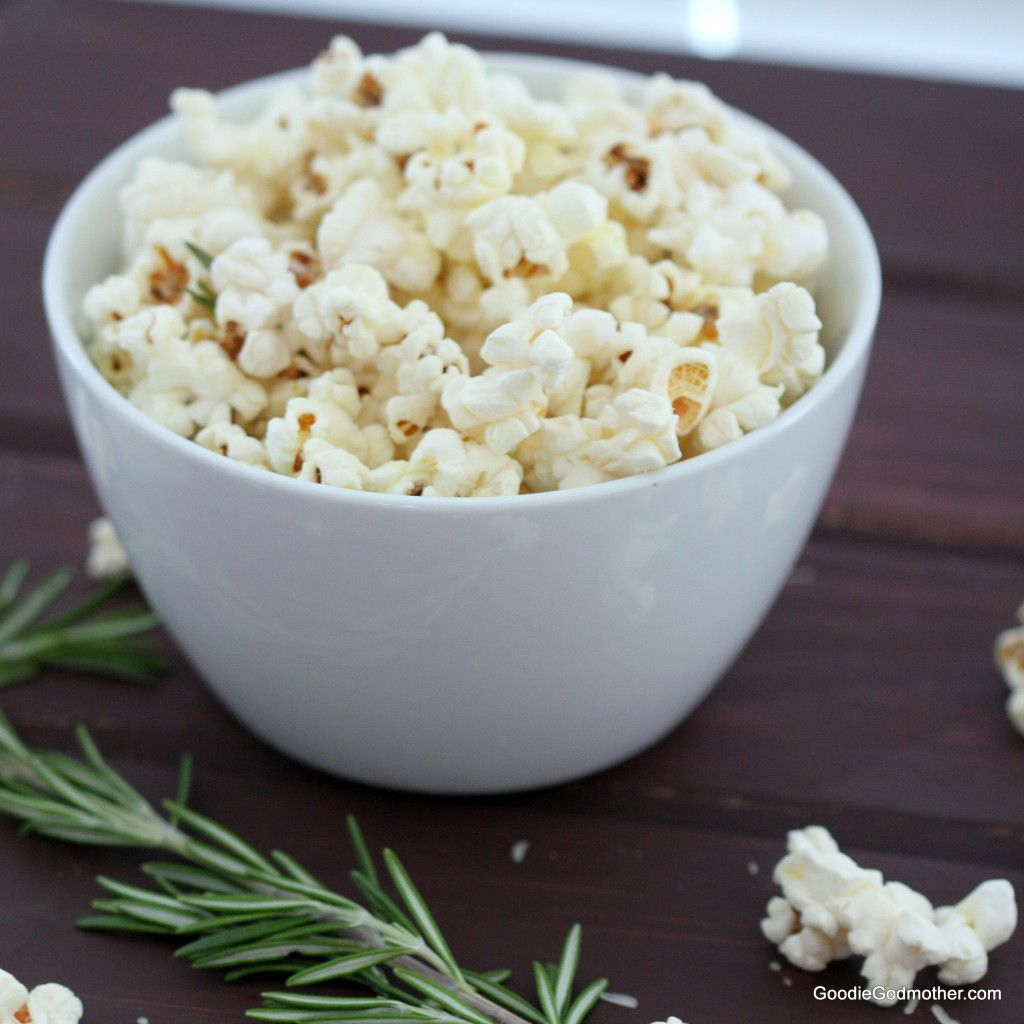 Gourmet Popcorn Recipe Rosemary and Asiago Cheese