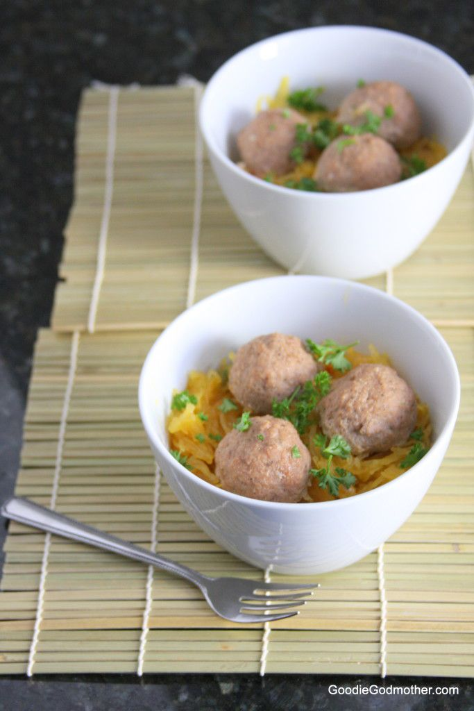 Paleo Spaghetti Squash and Meatballs Recipe