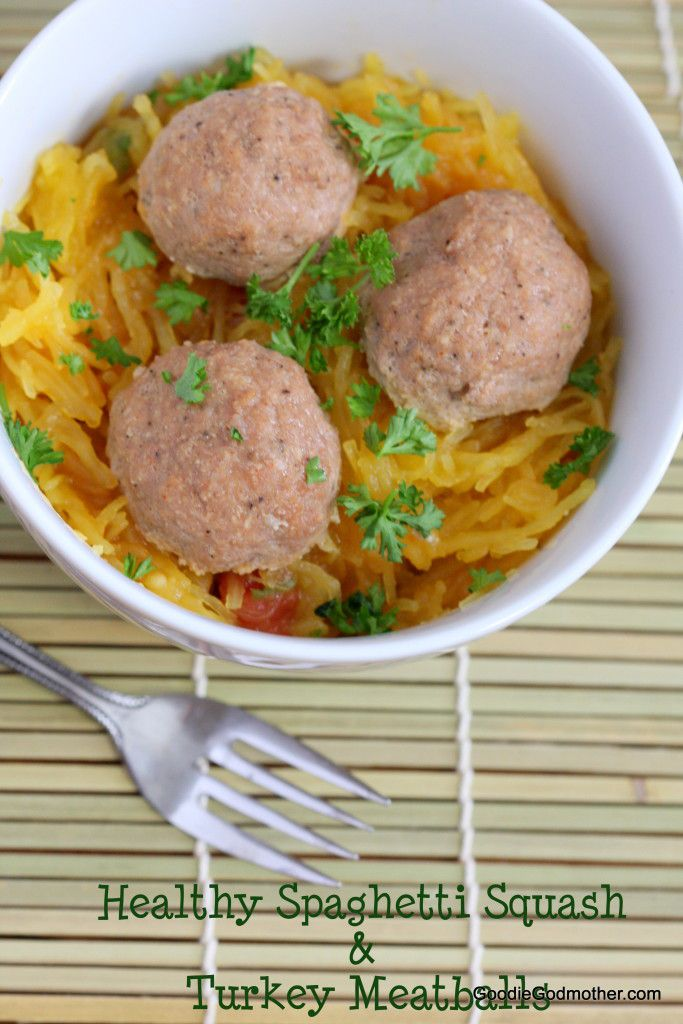 Spaghetti Squash with Turkey Meatballs - Goodie Godmother ...