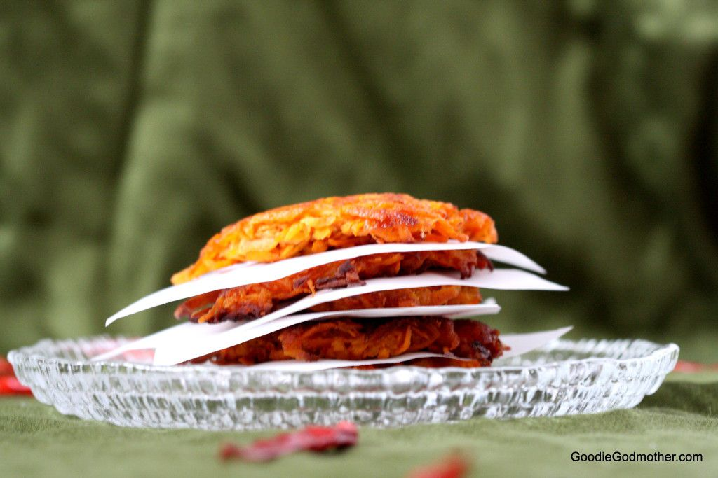Spicy Sweet Potato Latkes