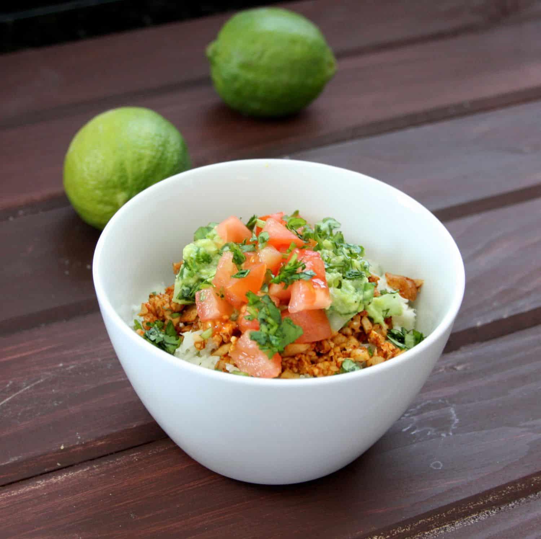 "Vegan Taco Bowls with Cilantro Lime Cauliflower ""Rice"" - Goodie ..."