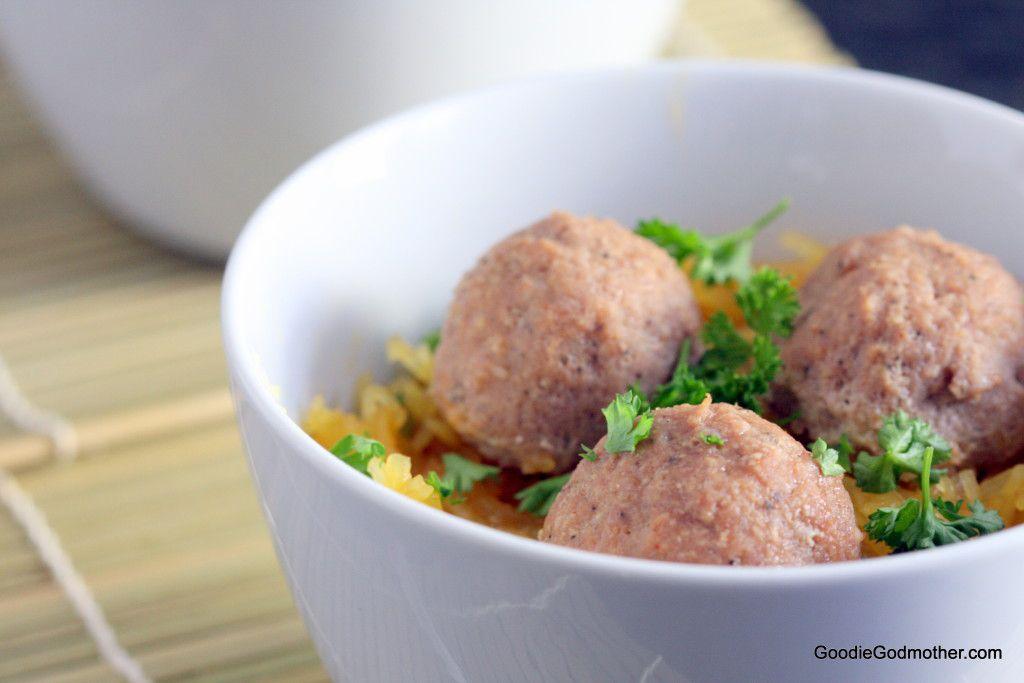 Whole30 Turkey Meatballs with Spaghetti Squash